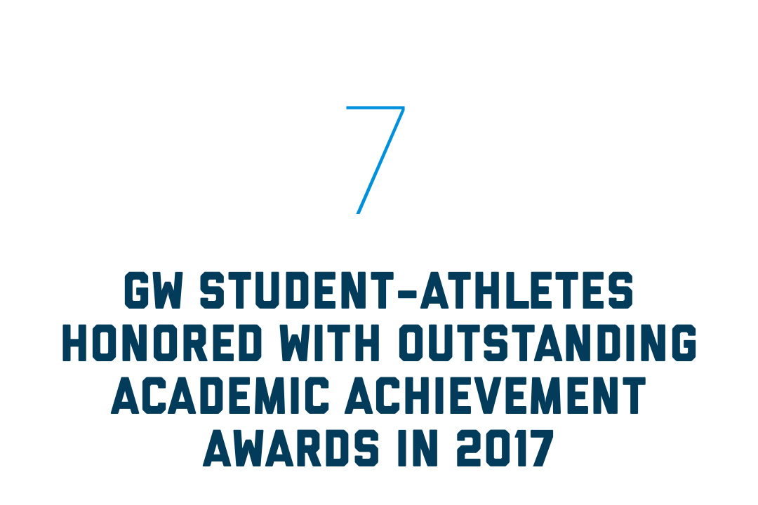 7 GW student-athletes honored with outstanding achievement