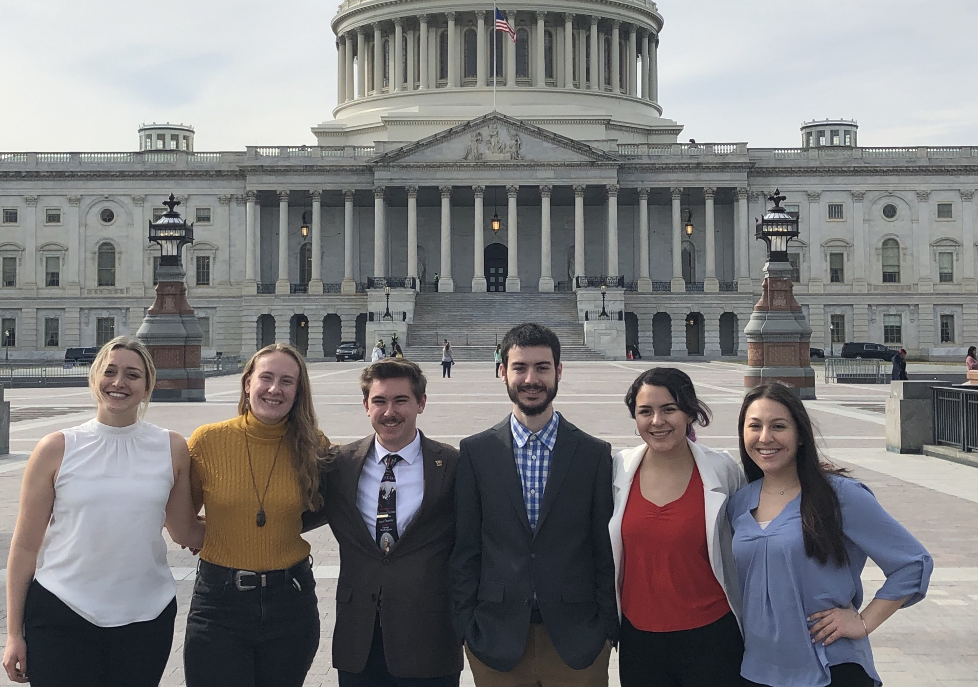 GW students on capitol hill
