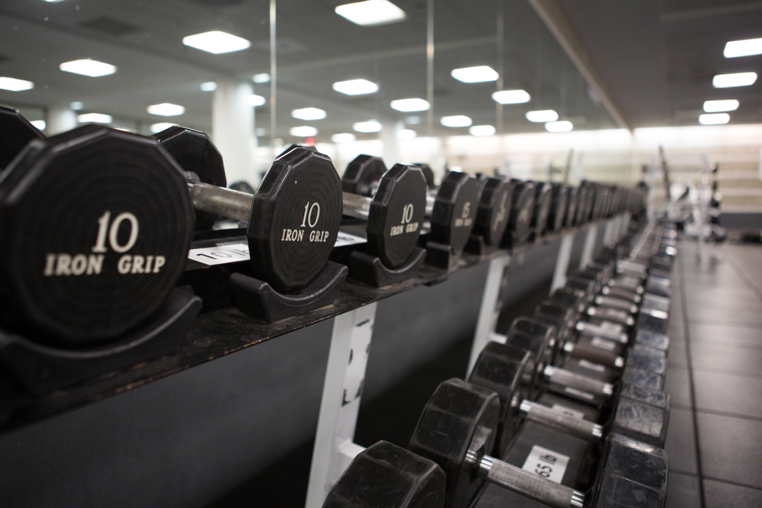 Weights in Lerner Health and Wellness
