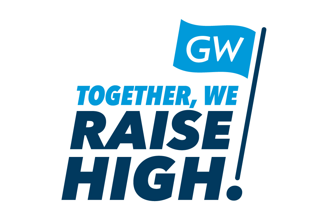GW flag with Together, We Raise High