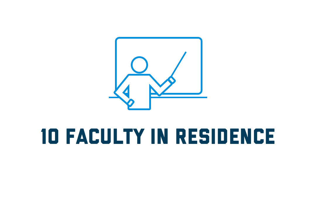 GW has 10 faculty in residence
