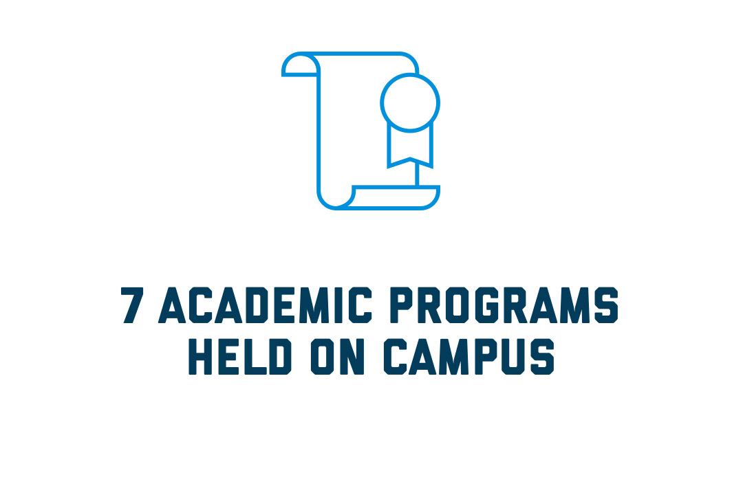 7 academic programs held on campus