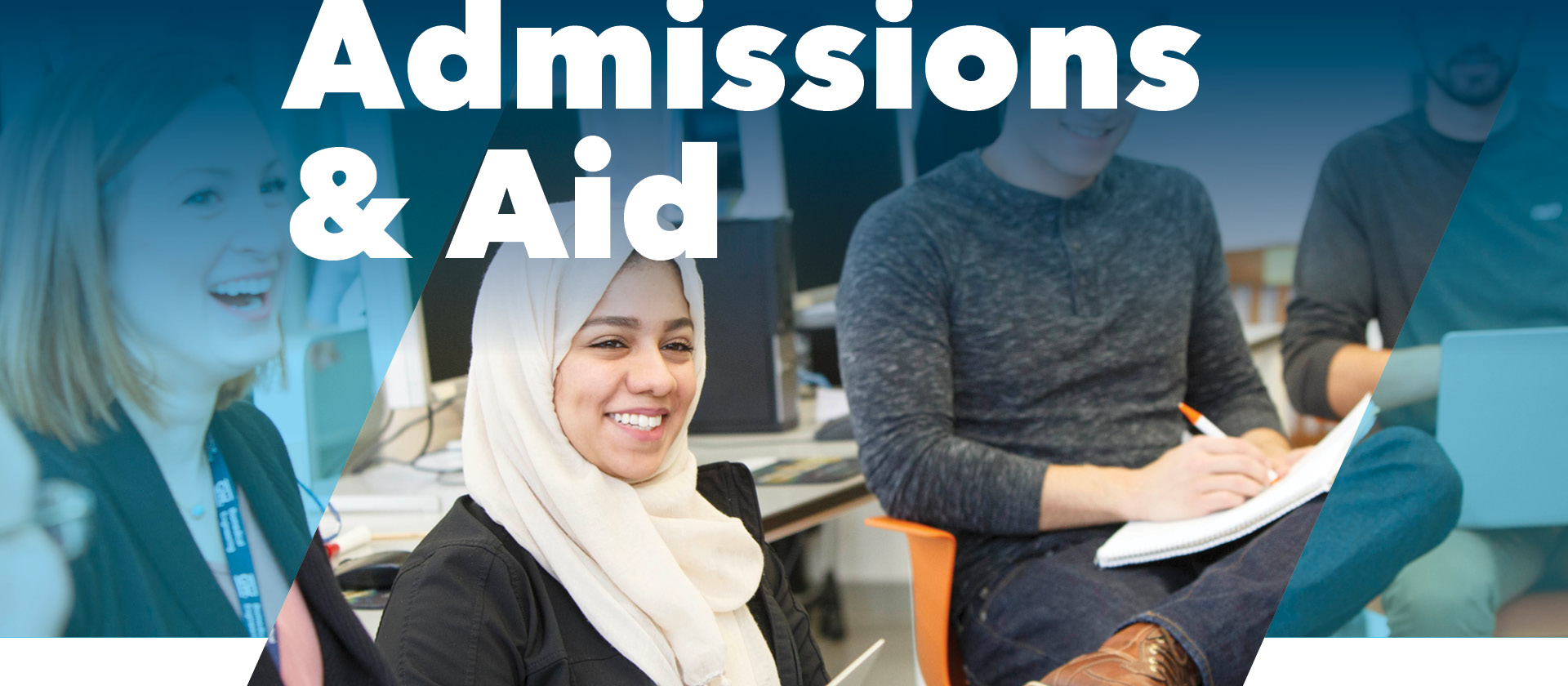 Admissions and Aid; Students in a classroom