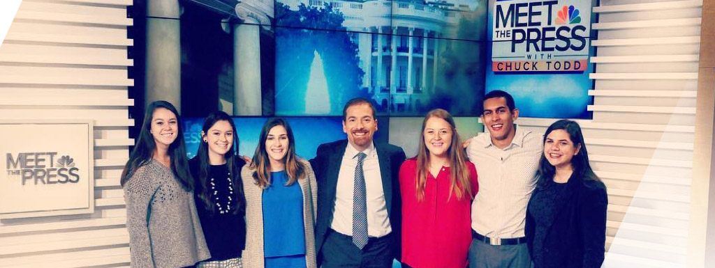 Students with Chuck Todd at Meet the Press