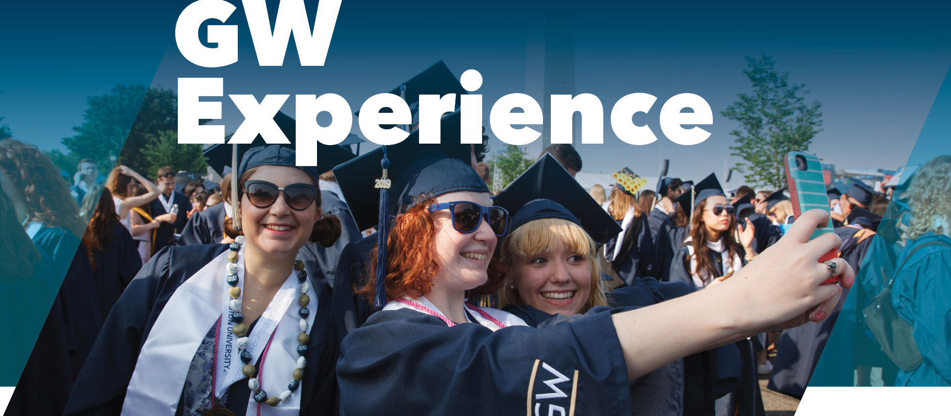 GW Experience; Graduating students at commencement