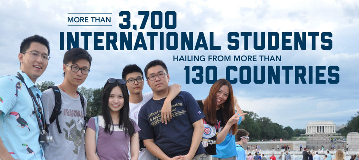 more than 3,700 international students hailing from more than 130 countries