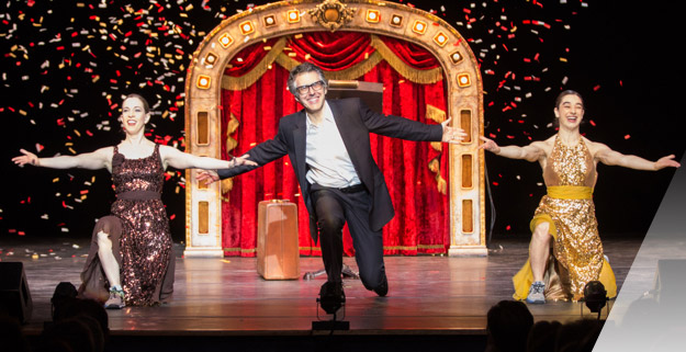 Ira Glass and dance performers on stage