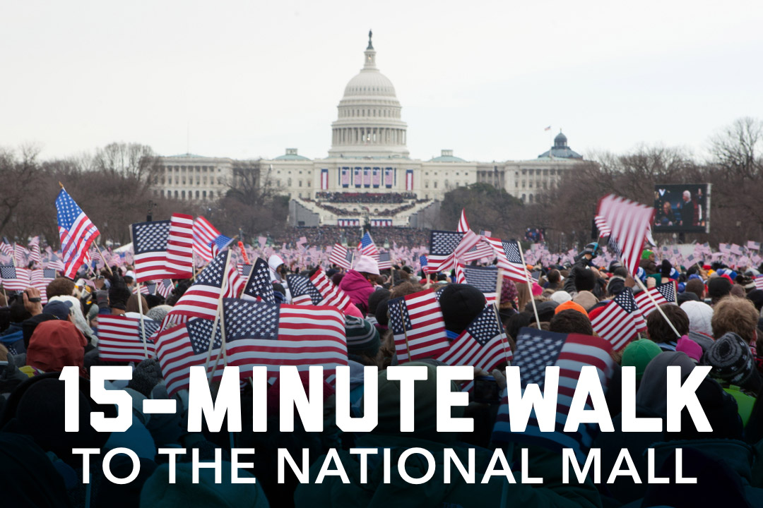 15 minute walk to the national mall