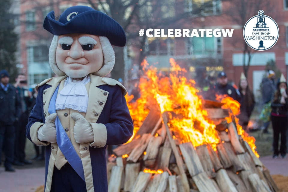 Celebrate GW: GW George Celebrates at the Annual Bonfire