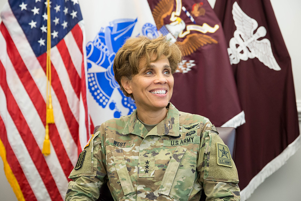 Lt. General Nadja West, MD '88, U.S. Army Surgeon General