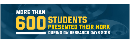 More than 600 Students Presented Their Work During GW Research Days 2016