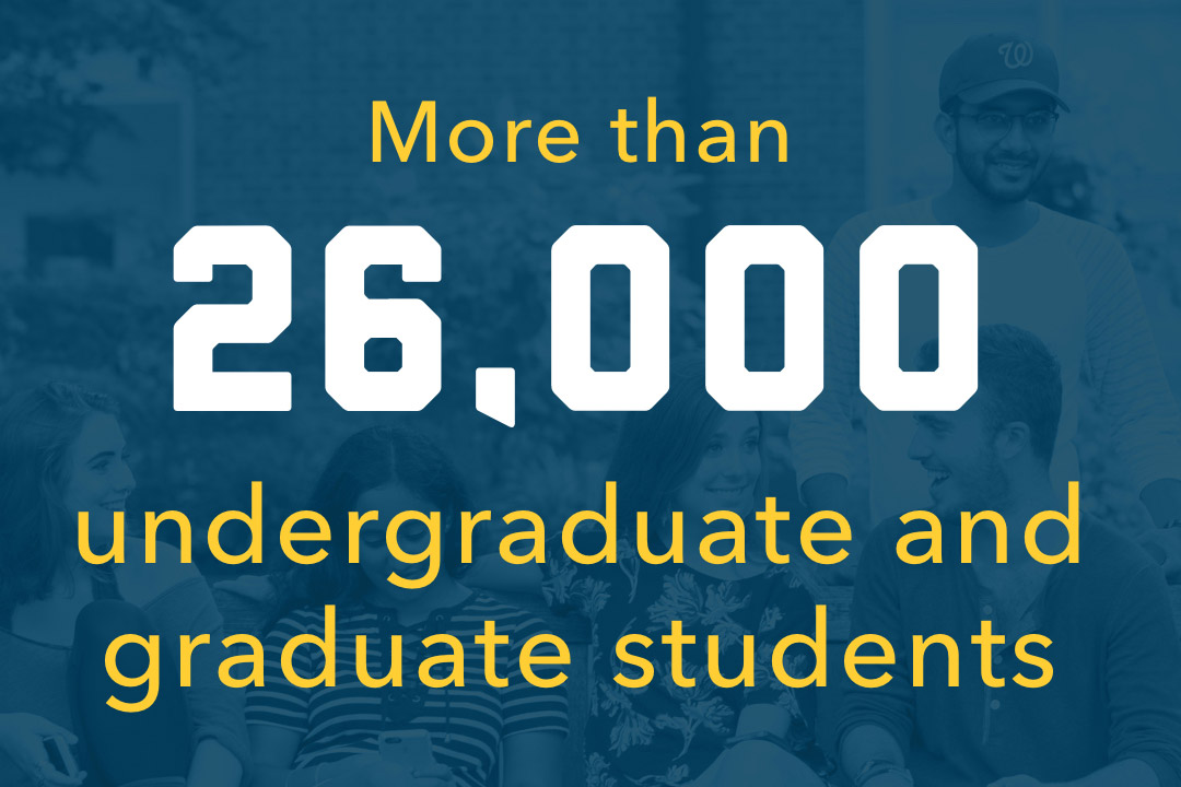 More than 26,000 undergraduate and graduate students
