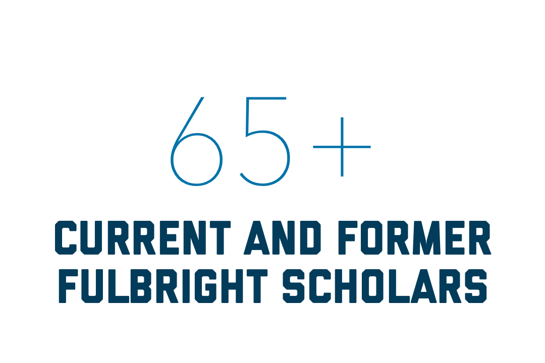 More than 65 current and former Fulbright Scholars went to GW