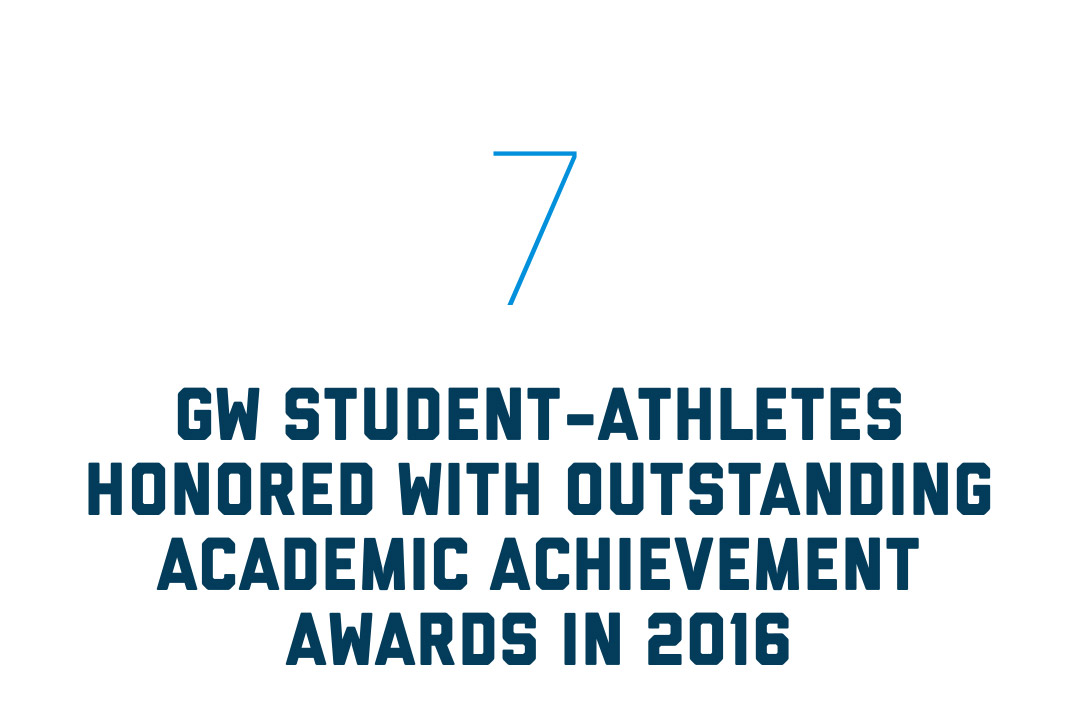 7 GW student-athletes were honored with outstanding academic achievement awards in 2016