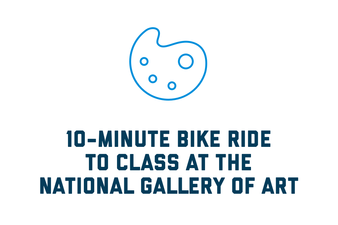 10-minute bike ride to class at the National Gallery of Art