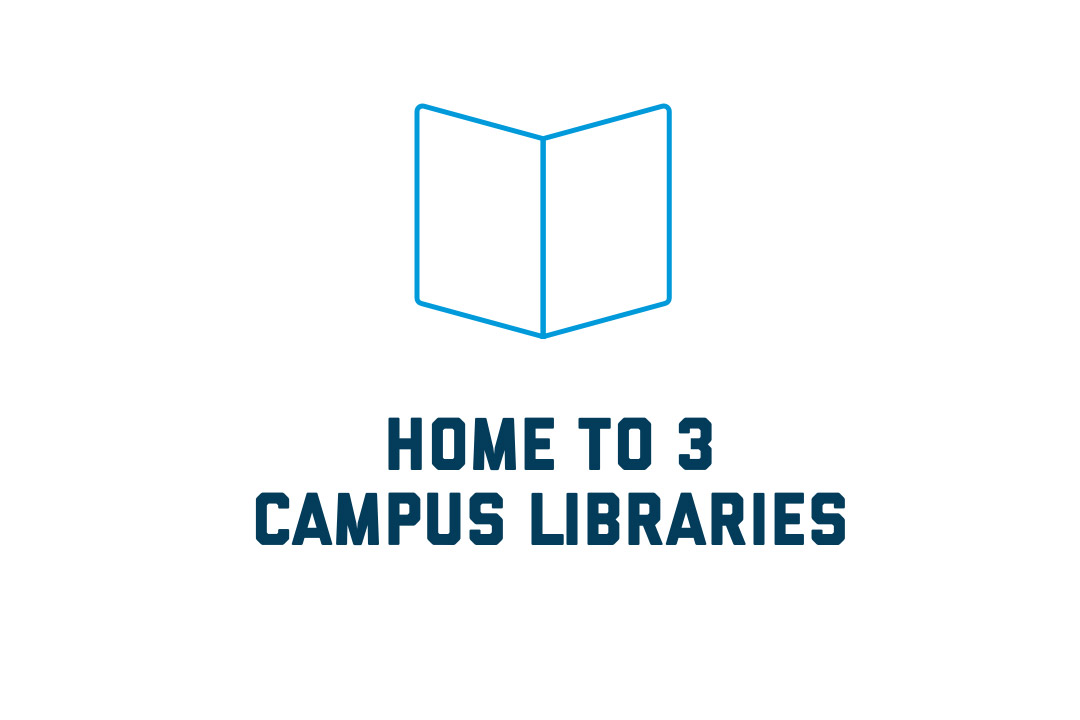 Home to 3 campus libraries