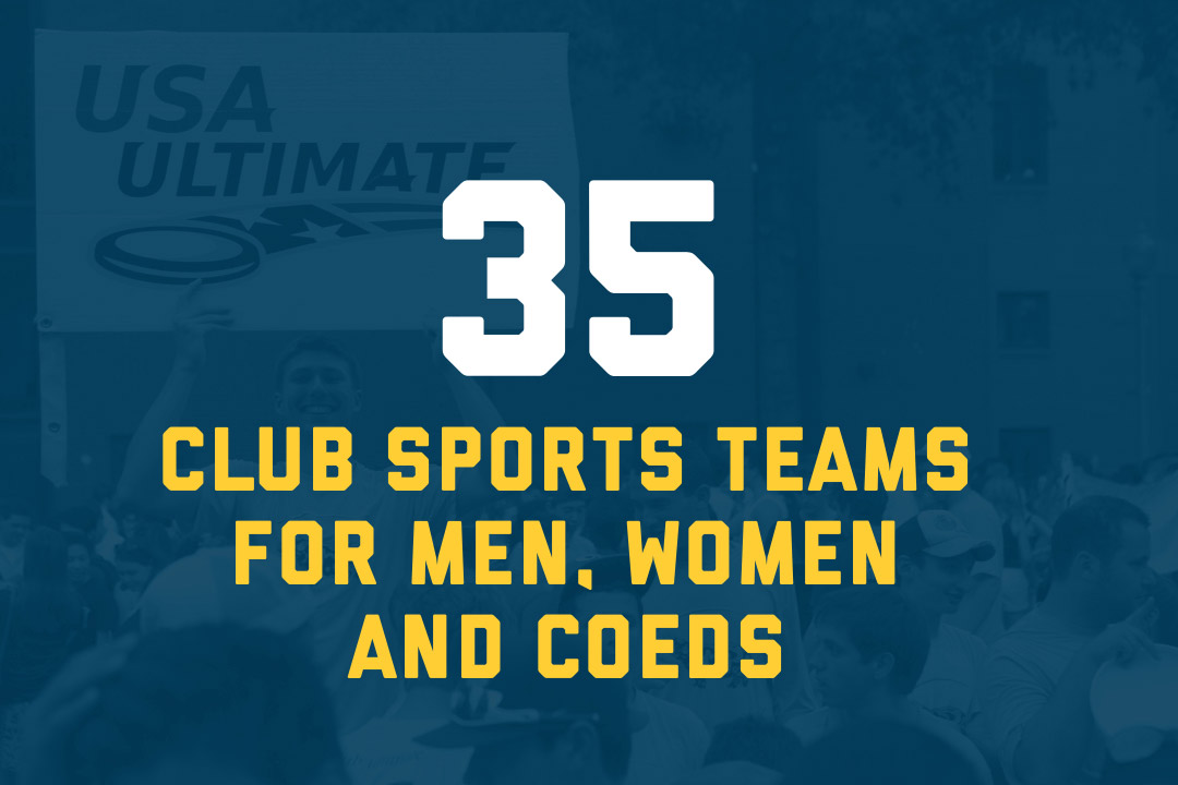 35 club sports teams for men, women and co-eds