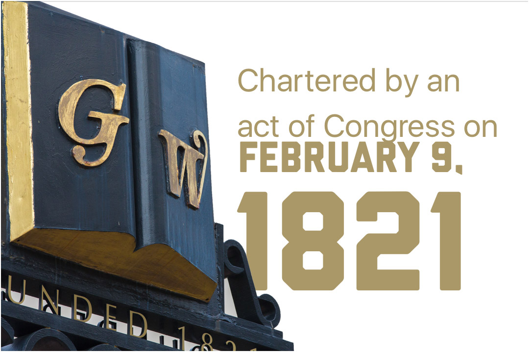 Chartered by an act of Congress on February 9, 1821