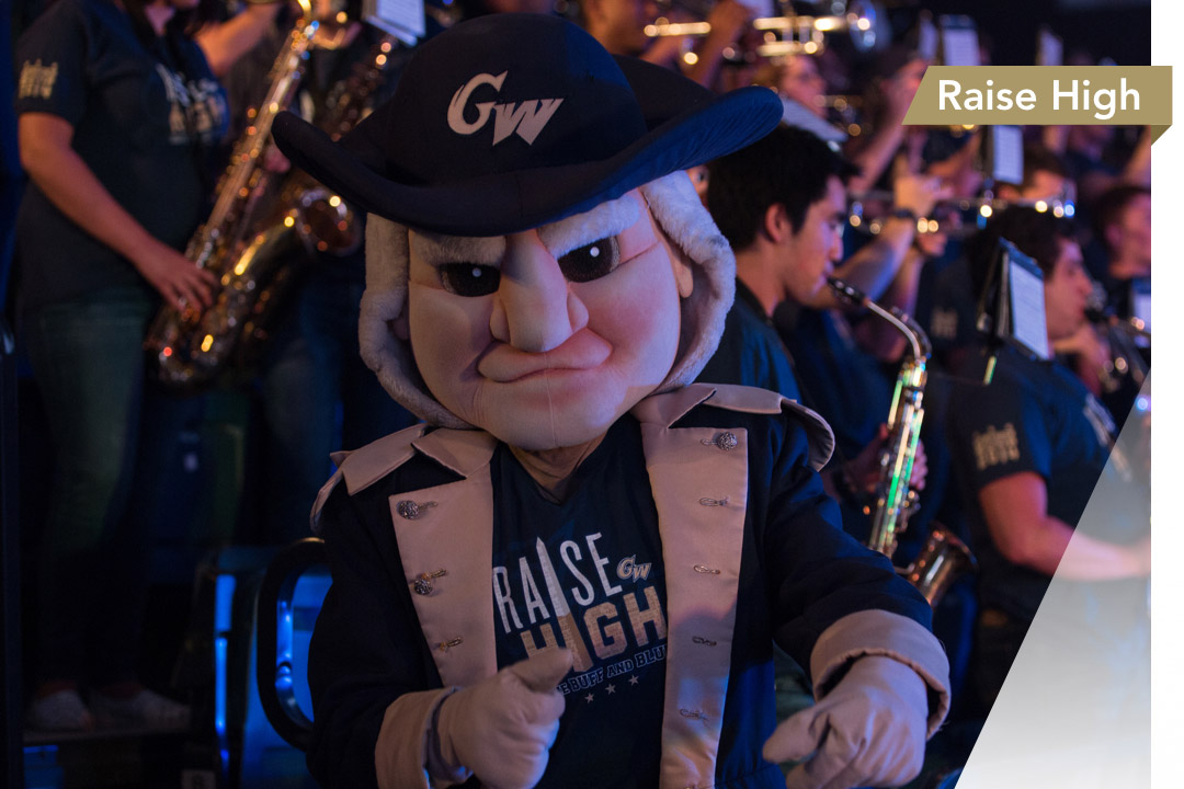 Raise High: George Washington mascot