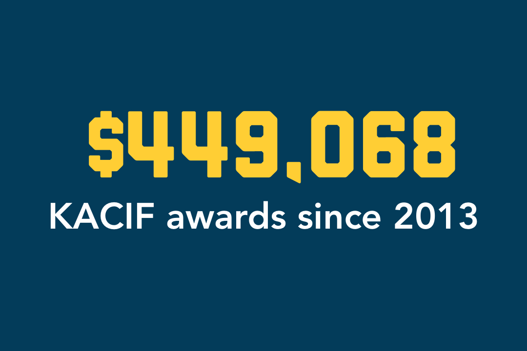 $449,068 KACIF Awards since 2013