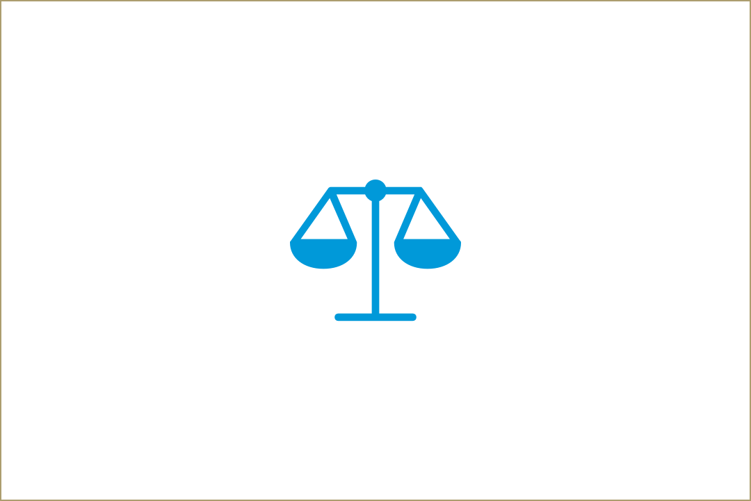 Law scale icon to represent GW Law