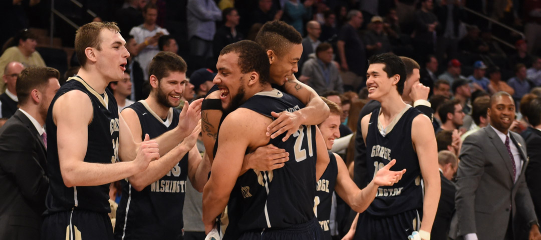 GW Men's Basketball celebrates NIT win