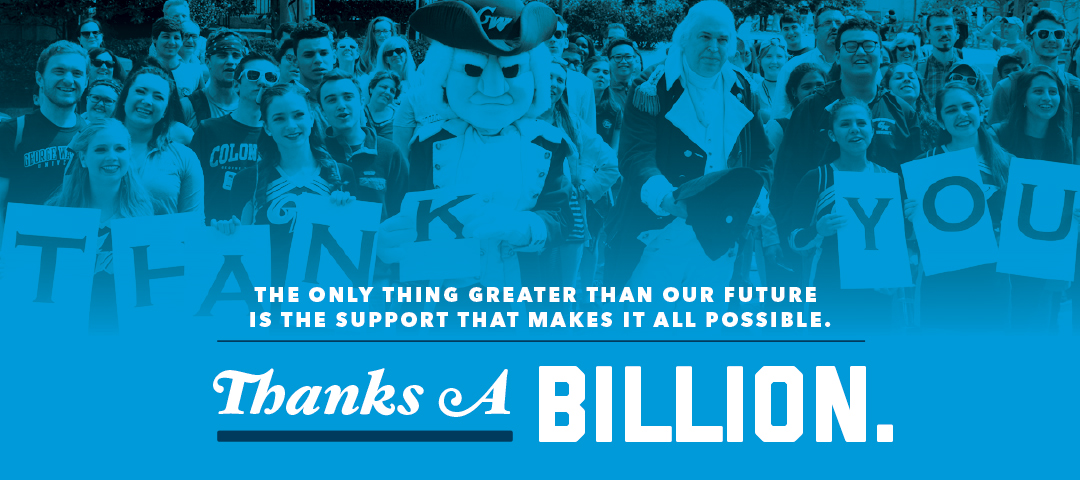 The only thing greater than our future is the support that makes it all possible. Thanks a billion