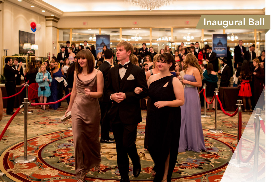 GW students at the Inaugural Ball