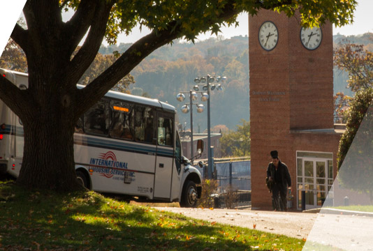 Vern Express Shuttle on Mount Vernon Campus