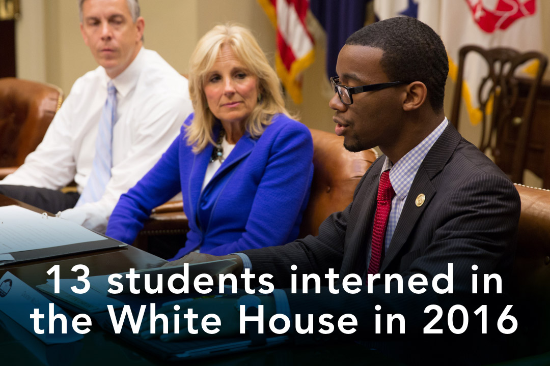 13 GW students interned in the White House in 2016
